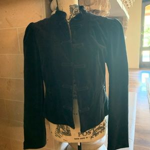 BCBG Black Velvet Jacket